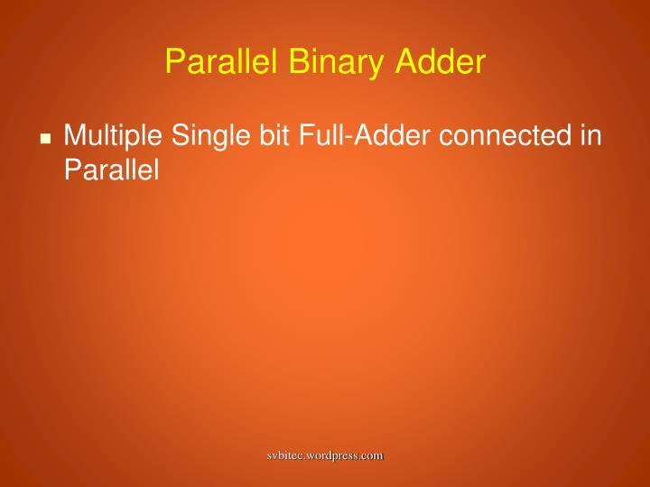 Parallel Binary Adder