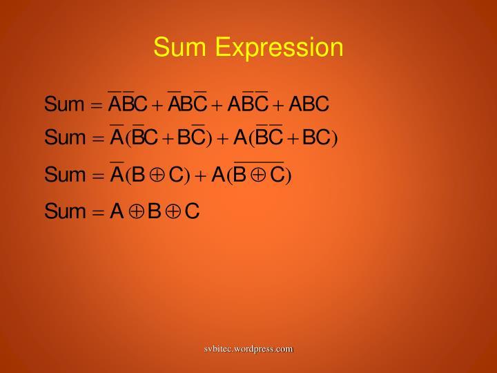 Sum Expression