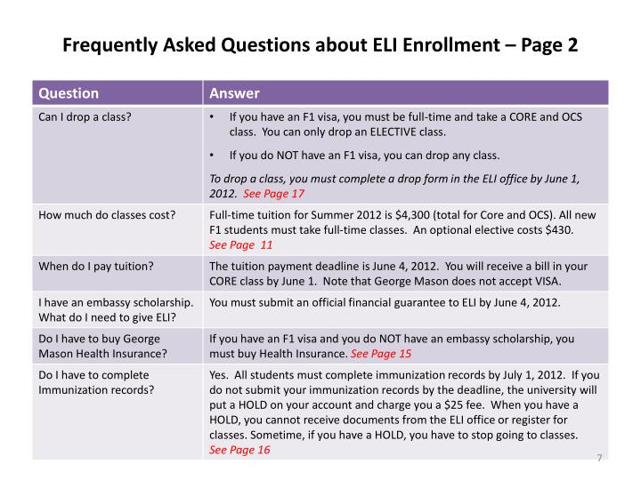 Frequently Asked Questions about ELI Enrollment – Page 2