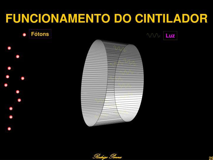FUNCIONAMENTO DO CINTILADOR
