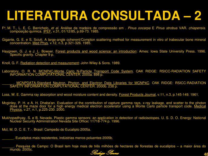 LITERATURA CONSULTADA – 2