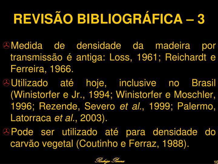 REVISÃO BIBLIOGRÁFICA – 3