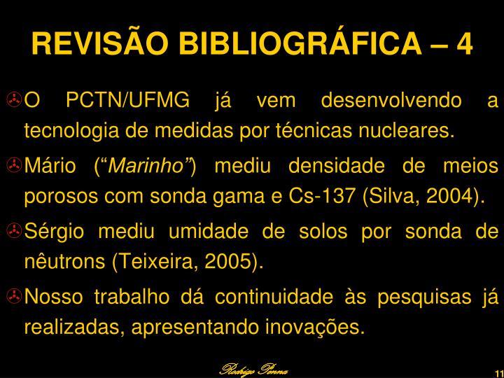 REVISÃO BIBLIOGRÁFICA – 4