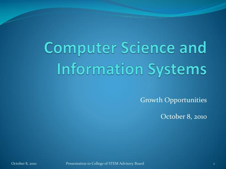 Computer Science and Information Systems