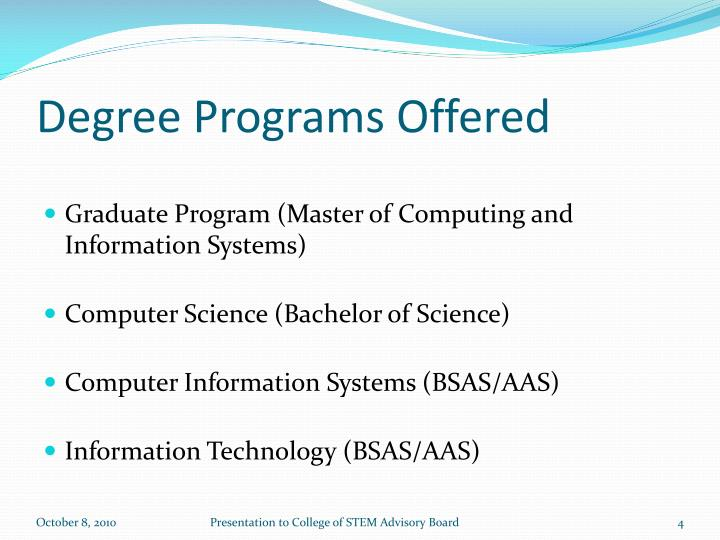 Degree Programs Offered