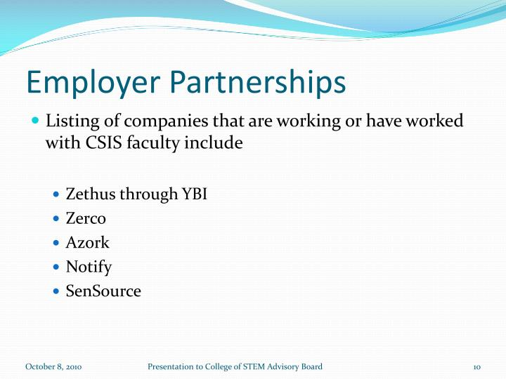 Employer Partnerships