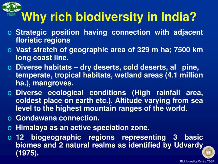 Why rich biodiversity in India?