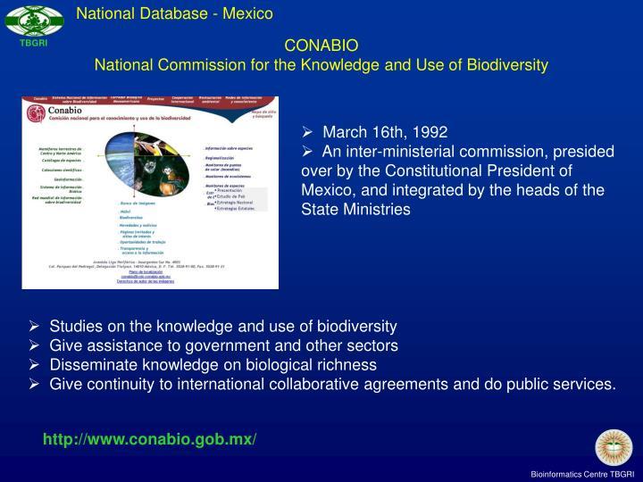 National Database - Mexico