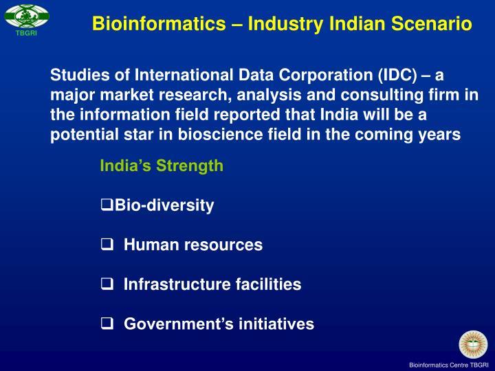 Bioinformatics – Industry Indian Scenario