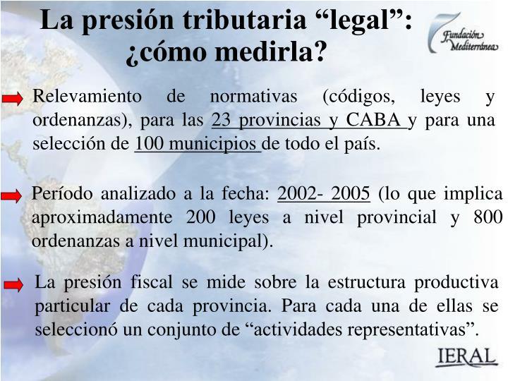 Relevamiento de normativas (códigos, leyes y ordenanzas), para las