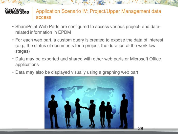 Application Scenario IV: Project/Upper Management data access