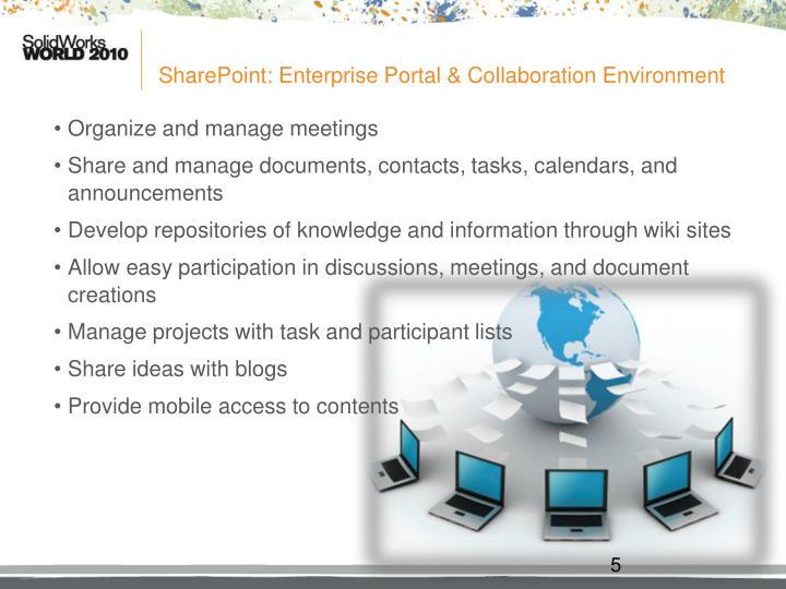 SharePoint: Enterprise Portal & Collaboration Environment