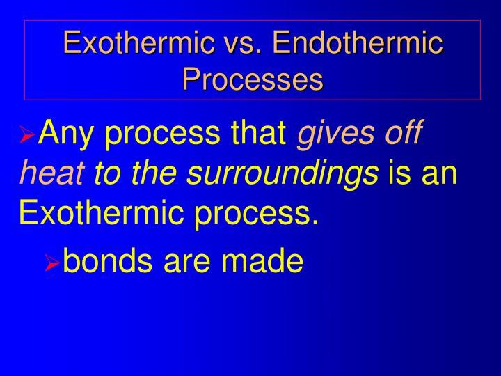 Exothermic vs. Endothermic Processes