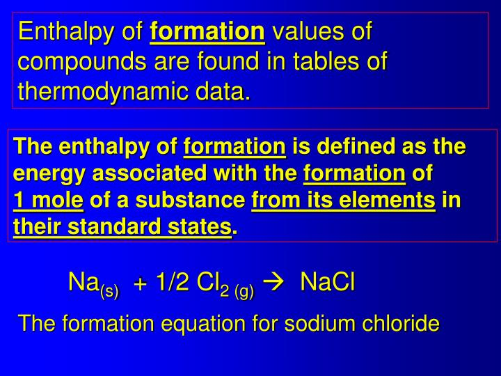 Enthalpy of
