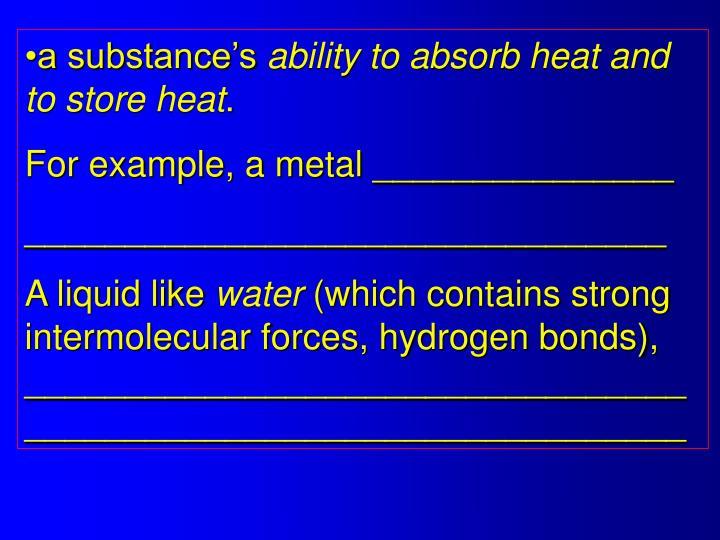 a substance's