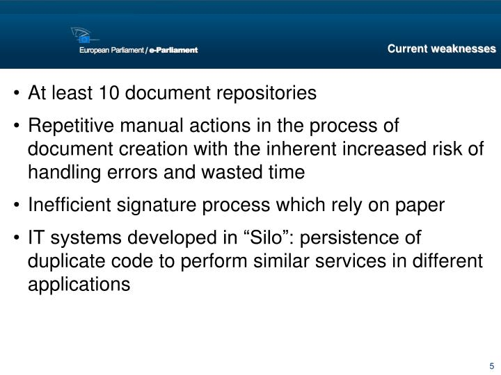 At least 10 document repositories