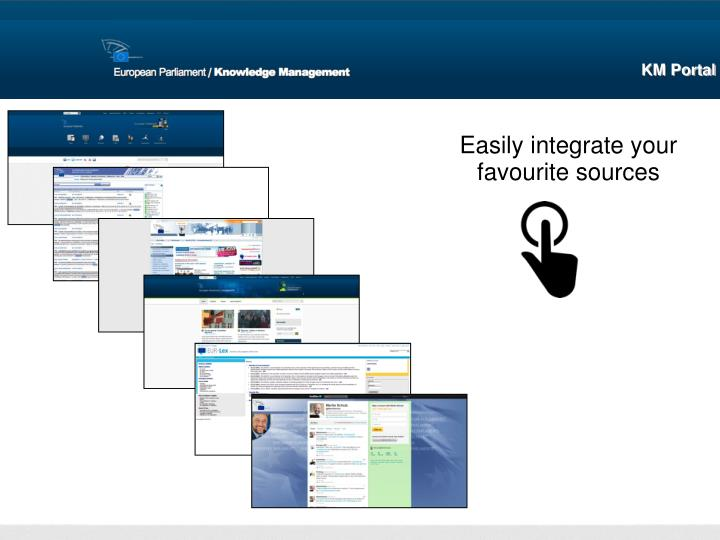 Easily integrate your favourite sources