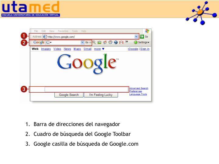 Barra de direcciones del navegador