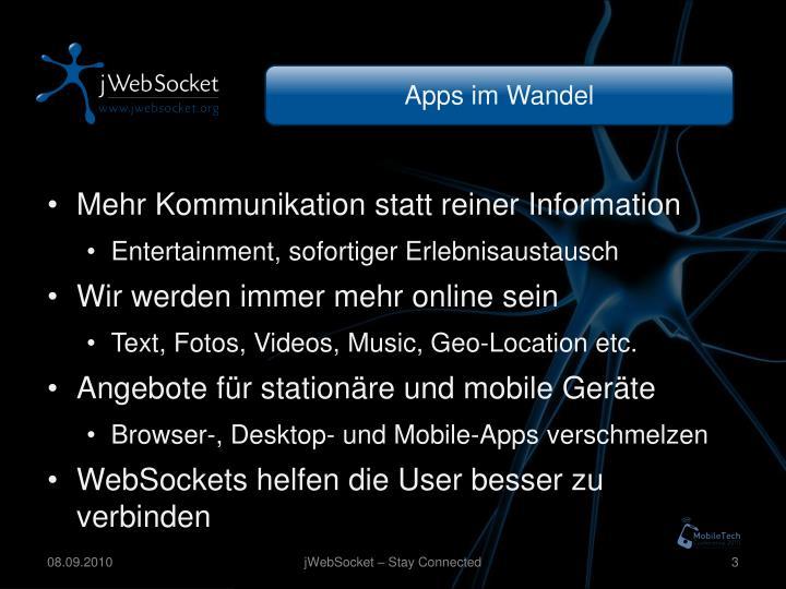 Apps im Wandel