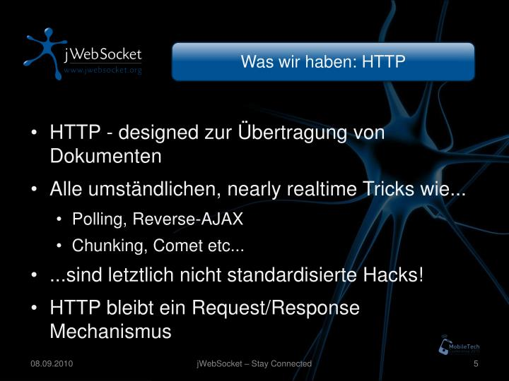 Was wir haben: HTTP
