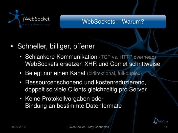 WebSockets – Warum?
