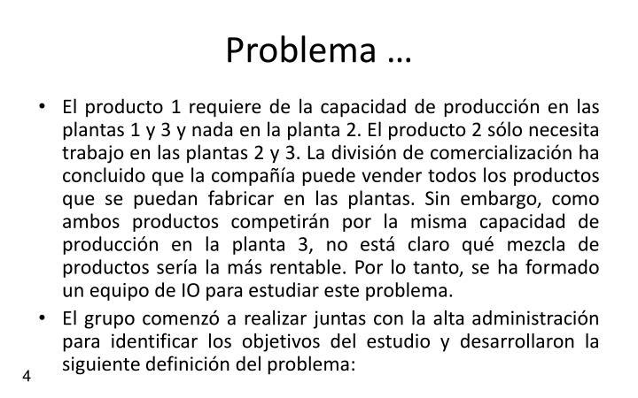Problema …