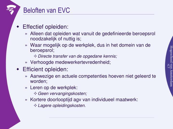 Beloften van EVC