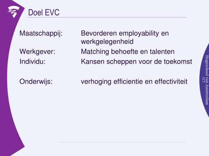 Doel EVC