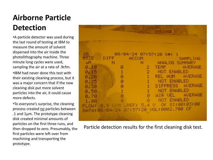 Airborne Particle Detection