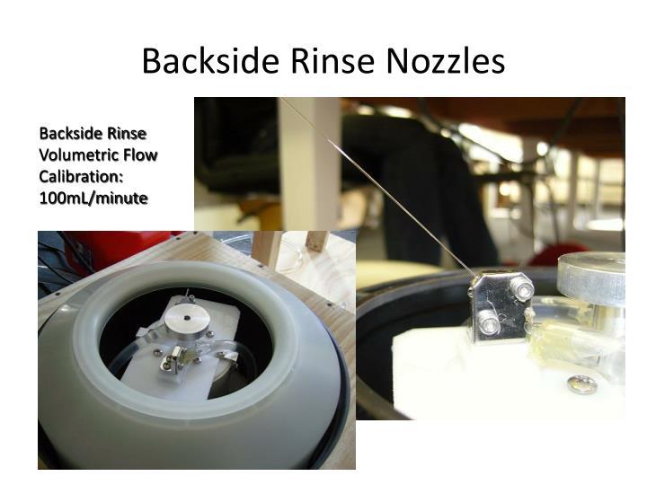 Backside Rinse Nozzles