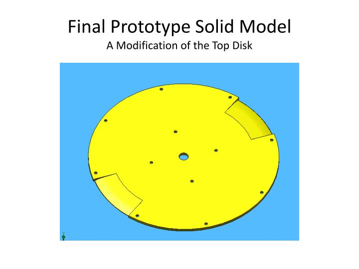 Final Prototype Solid Model