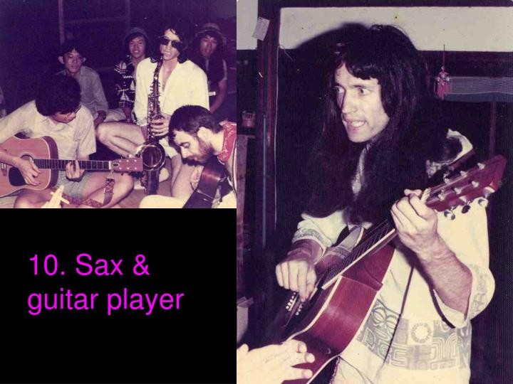 10. Sax & guitar player