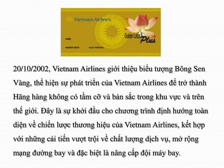 20/10/2002, Vietnam Airlines