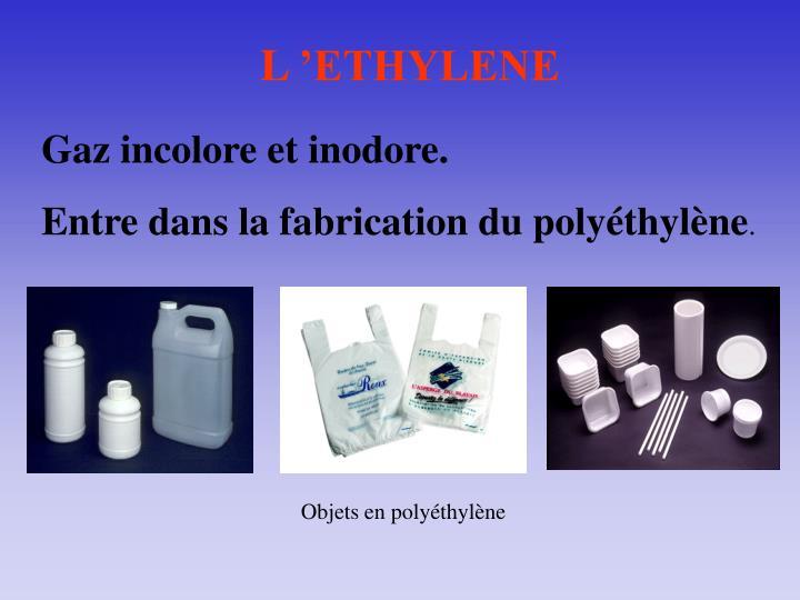 L'ETHYLENE