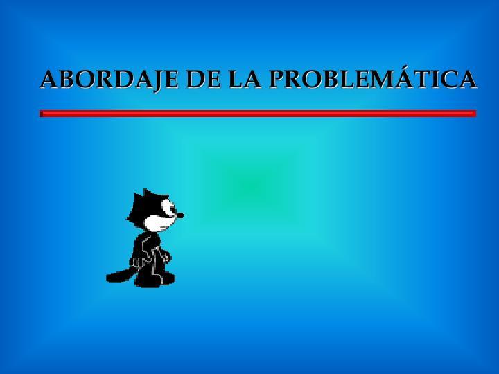 ABORDAJE DE LA PROBLEMÁTICA