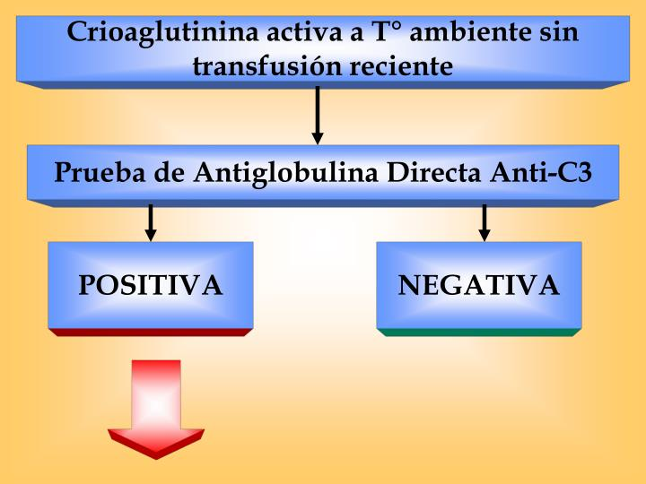 Crioaglutinina activa a T° ambiente sin