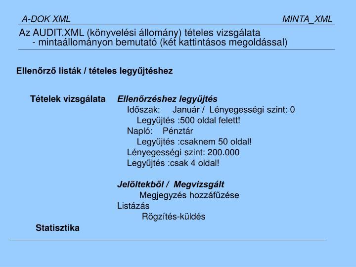 A-DOK XML                   MINTA_XML