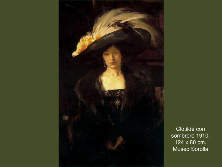 Clotilde con sombrero 1910.