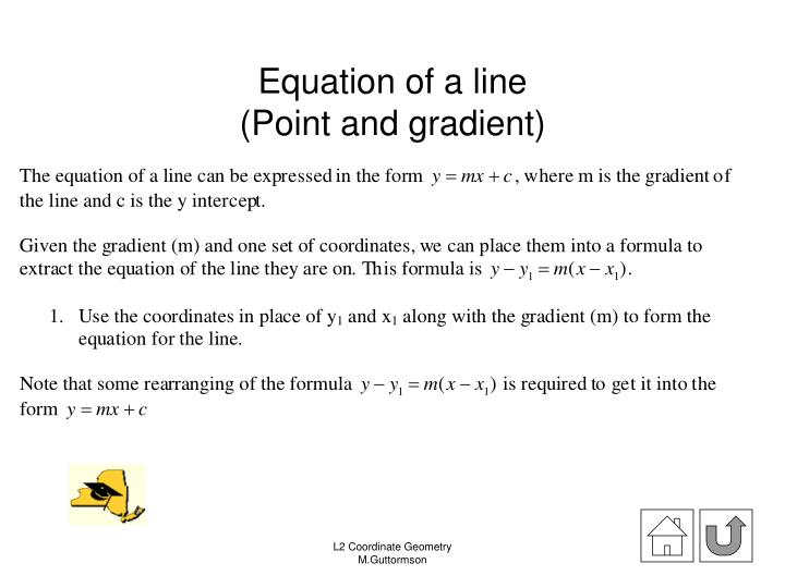 Equation of a line