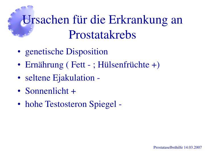 Ursachen für die Erkrankung an Prostatakrebs