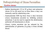pathopysiology of stone formation cystine stones5