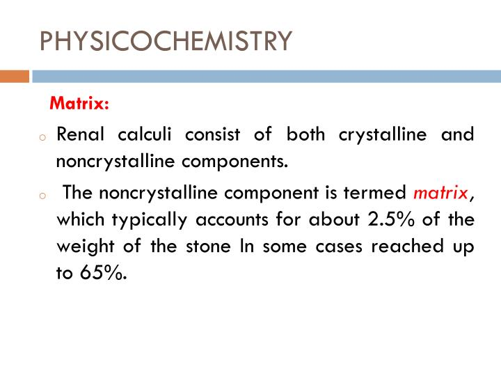 PHYSICOCHEMISTRY