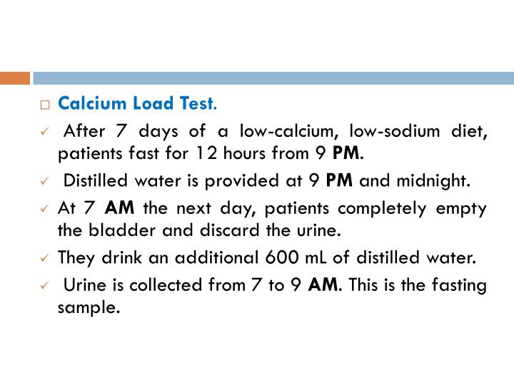 Calcium Load Test
