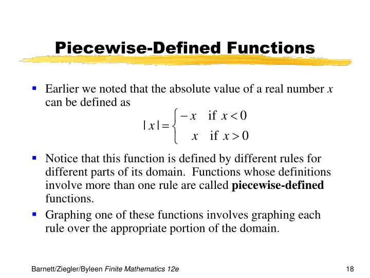 Piecewise-Defined Functions