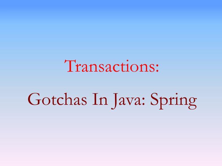 Transactions: