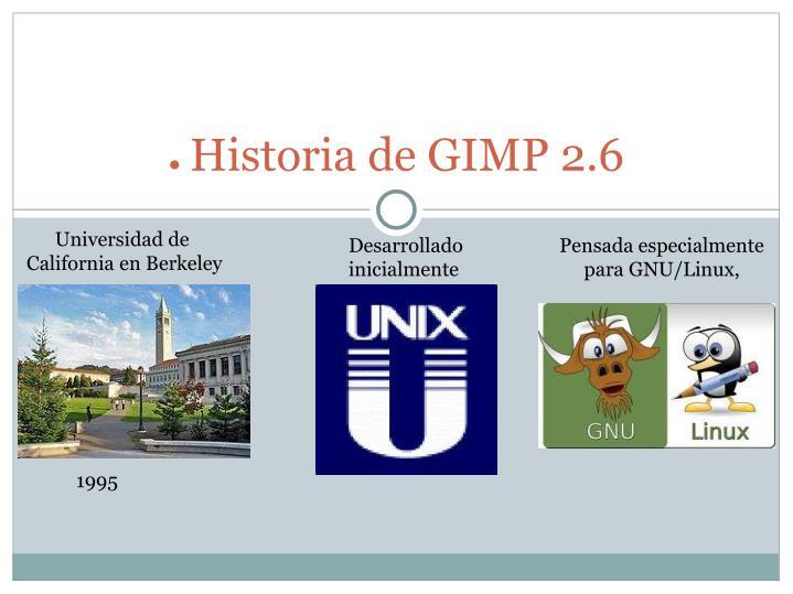 Historia de GIMP 2.6
