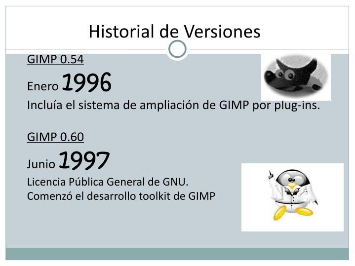 Historial de Versiones