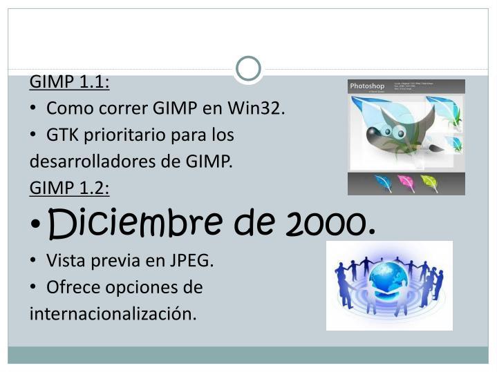 GIMP 1.1: