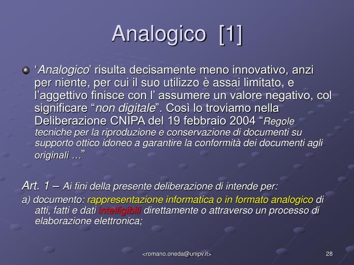 Analogico  [1]