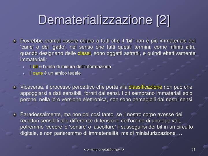 Dematerializzazione [2]